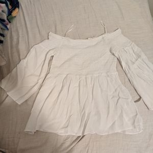 Guess Off-Shoulder Baby Doll Top